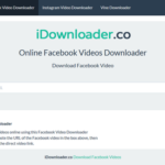 iDownloader Online Facebook Video Downloader Scripts