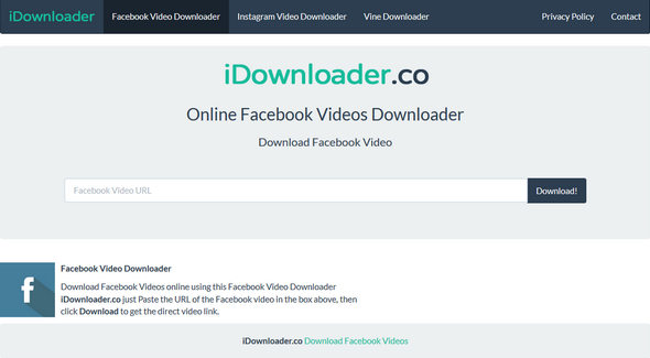 Online-Facebook-Video-Downloader