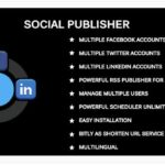 Social Publisher Facebook, Twitter, LinkedIn Multiple Account