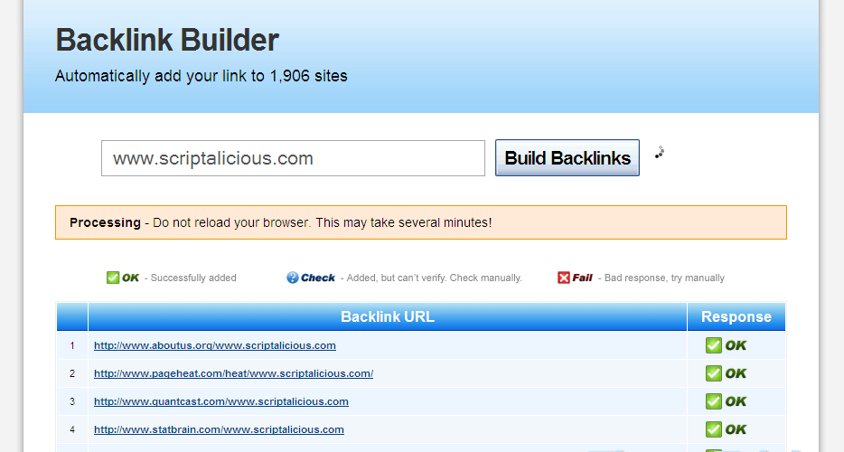 Auto Backlink Builder Nulled Script Download