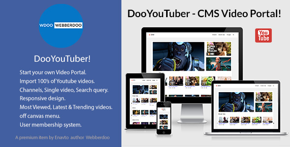 DooYouTuber-CMS-Video-Portal-CodeCanyon-Free-Download