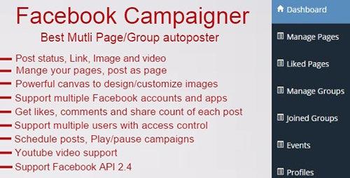 Facebook Campaigner – Facebook Autoposter v 2.2 Nulled