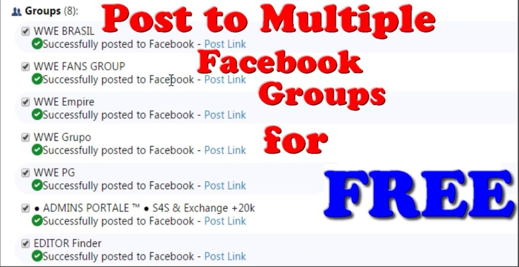 Unlimited Post to Multiple Facebook Groups for FREE