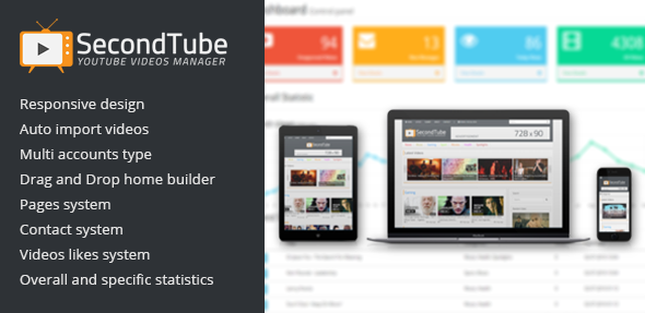 SecondTube v1.0.0 – YouTube Videos Manager PhP Download Scripts