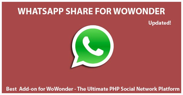 Whatsapp Share Post For Wowonder