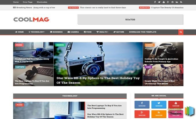 Cool Mag Blogger Template Free Download