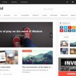 Invert Grid Blogger Template Free Download