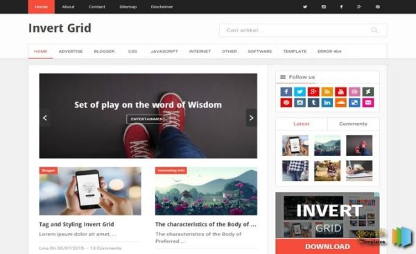 invert-grid-blogger-template-free-download