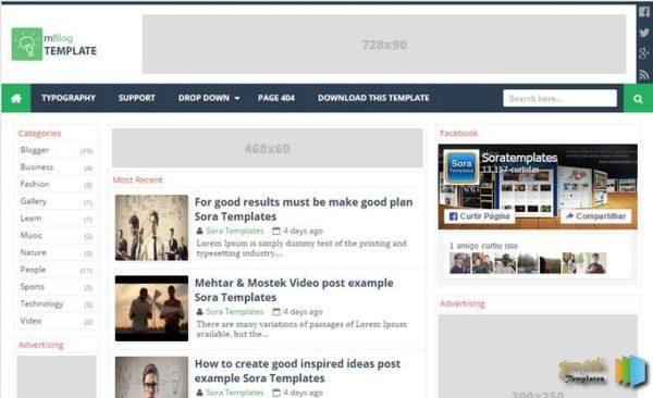 mblog-blogger-template-free-download