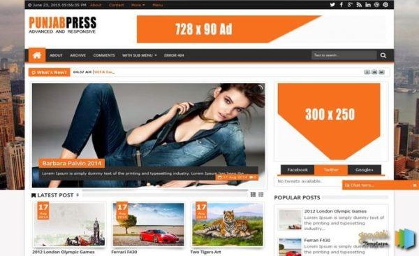 punjab-press-v5-blogger-template-free-download