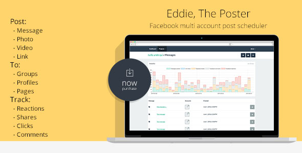 Facebook Auto Group Poster multi account post scheduler EDDIE
