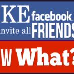 Facebook FanPage LIKE Auto invite all Friends