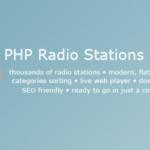 PHP Radio Stations Database v1.4