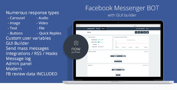 Facebook-Messenger-BOT-GUI-Builder