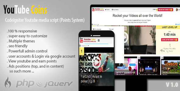 YouTube Coins – Media Script and Points System