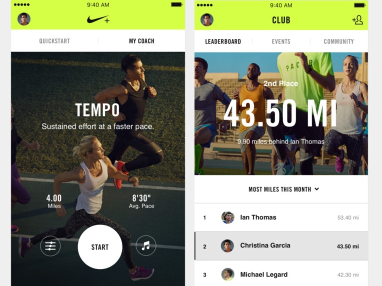 Nike and running Amazing iOS Fitness apps