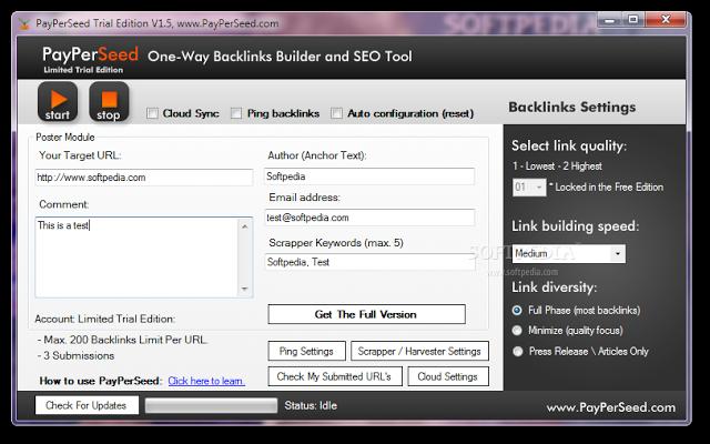 PayPerSeed SEO Backlink Builder Free Download