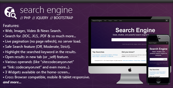 PHP Search Engine Script Free Download