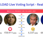 Download Facebook Live Reactions Vote real time Script