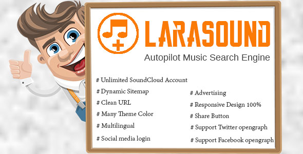 LaraSound – Autopilot Music Search Engine Free Download