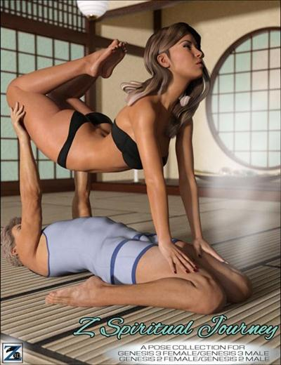 Z Spiritual Journey – Poses for Genesis 2 & 3 Female and Male Download