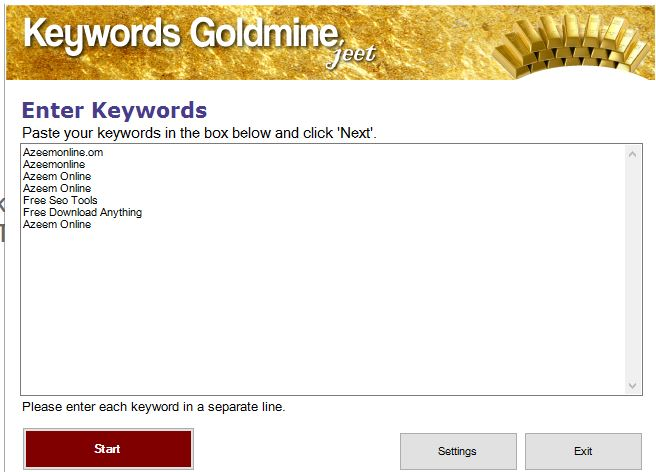 Download Keywords Goldmine Pro Jeet Free