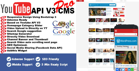 Youtube API V3 CMS PRO Download