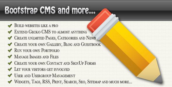 Bootstrap CMS Website Builder PHP Sript Download