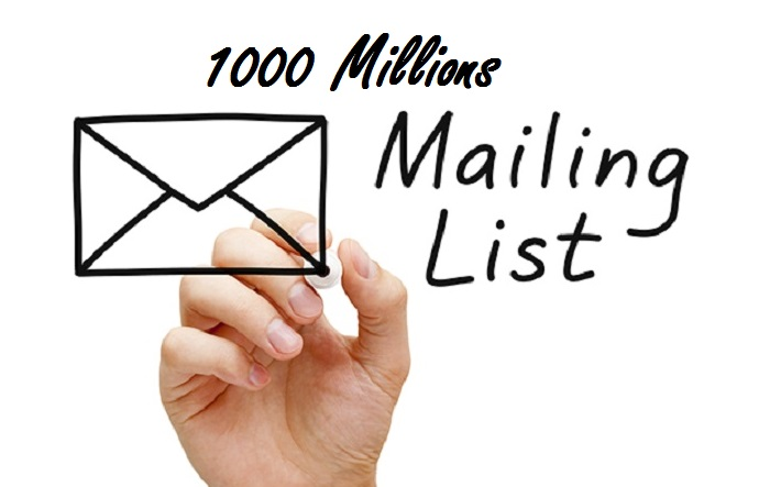 Download 1000 Millions Emails List with Unlimited eMails send Tutorials