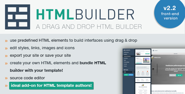 HTML Builder Front-End Version Script Download