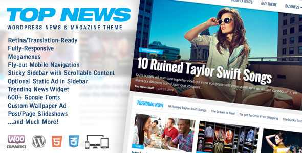 Top News v1.03 Themeforest WordPress News & Magazine Nulled Theme