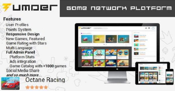 Tumder v2.0 – Arcade Games Platform with Database Download