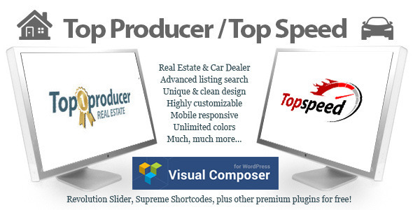 Top Producer Real Estate and Top Speed Car Dealer Theme Download