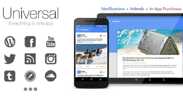 Universal – Full Multi Purpose Android App Creator Theme Download