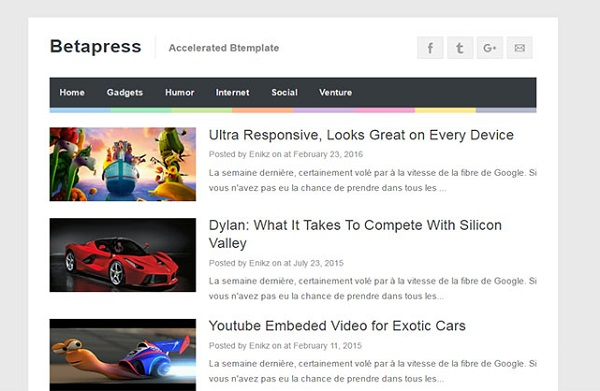 BetaPress Blogger Template Download