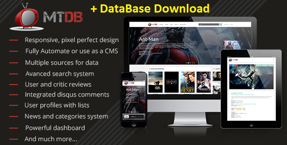 MTDb Ultimate Movie and TV Database CodeCanyon Free Download
