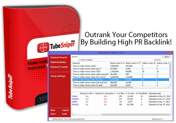 Tube Sniper PRO Software Free Download