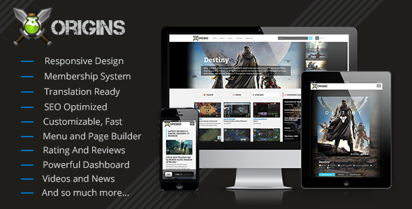 Origins Video Games Portal Codecanyon Nulled Script Download