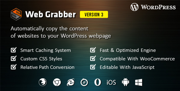 Web Grabber v3.0 WordPress HTML Scraping Plugin Download