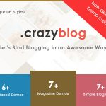 CrazyBlog Start A Blog or Magazine for Adsense or Affiliate Business Free Nulled WP Theme