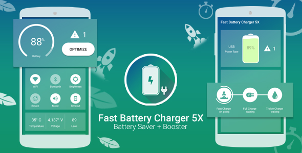 Fast Battery Charger, Battery Saver and Booster With Facebook Audience Network App for Android