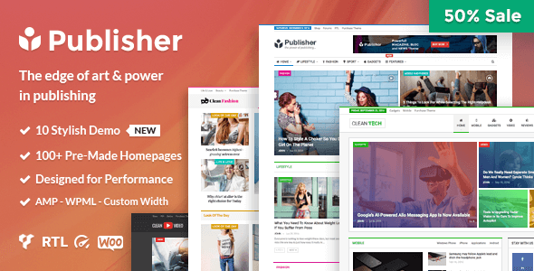 Publisher Magazine, Blog, Newspaper and Review WP Nulled Theme