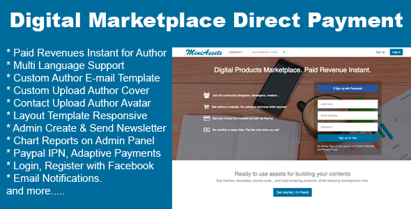 Digital Products Marketplace Direct Payment Nulled Download