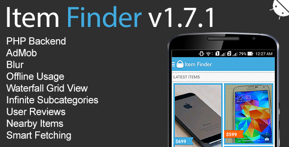 Item Finder MarketPlace Full Android App Download