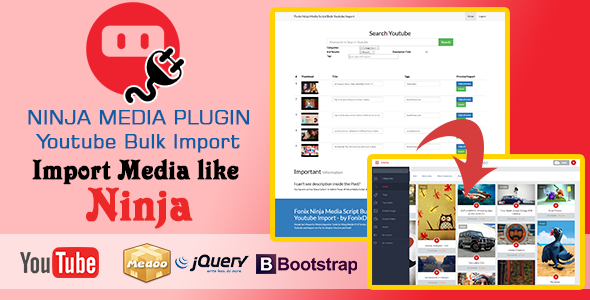 Ninja Media Bulk Youtube Importer Plugin Nulled Script Download