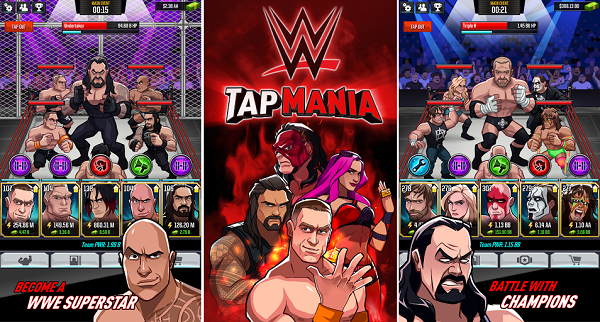 WWE Tap Mania Mod Apk Unlimited Money Download