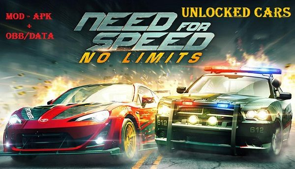Need for Speed No Limits Mod Apk OBB Data Unlocked Cars Download