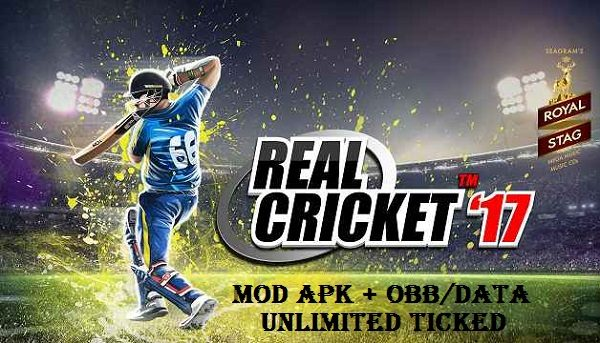 Real Cricket 17 Mod Apk OBB Data Unlimited Money Download