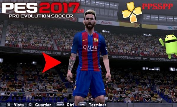 PES 2017 iSO Pro Evolution Soccer V2 PPSSPP Android Download