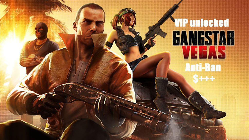 Gangstar Vegas VIP Mod Apk Unlimited Money Anti-Ban Download